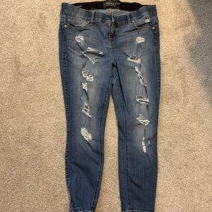 Torrid Bombshell Distressed Skinny Jeans